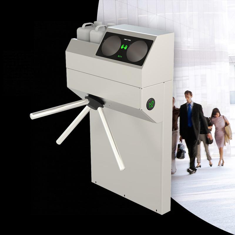 Турникет-трипод электромеханический высокоинтенсивный AVIR 800 со встроенным санитайзером.